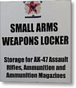 Small Arms Signage Russian Submarine Metal Print
