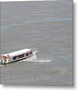 Small Boat On The Amazon Metal Print