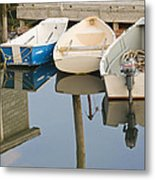 Small Boats And Dock In Port Clyde Maine Metal Print