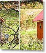 Small Cabin In Stereo Metal Print