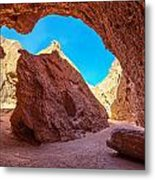 Small Canyon In Chile Metal Print