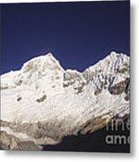 Small Climber Big Peaks Metal Print