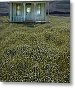 Small Cottage In Storm Metal Print