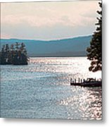 Small Dock On Lake George Metal Print