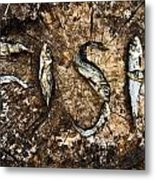 Small Dried Fishes Forming The Word Fish Metal Print