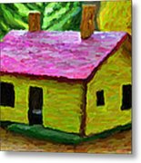 Small-house- Painting Metal Print