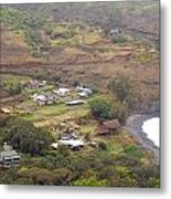 Small North Maui Town Metal Print