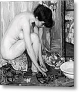 Small Nude Painting By Albert Worcester C. 1910 Metal Print