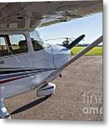 Small Plane In Private Airport Metal Print