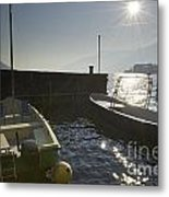 Small Port In Backlight Metal Print