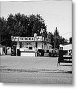 small roadside diner leader Saskatchewan Canada Metal Print