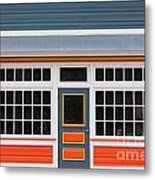 Small Store Front Entrance Colorful Wooden House Metal Print