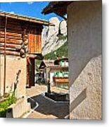 small street in Penia Metal Print