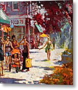 Small Talk In Elmwood Ave Metal Print