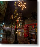 Small Town Christmas Ohio Metal Print