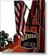 Small Town Patriotism Metal Print