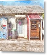 Small Town Pit Stop  Metal Print