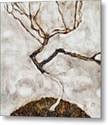 Small Tree In Late Autumn Metal Print