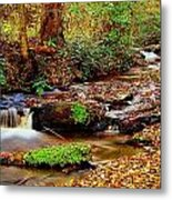 Small Waterfall And Stream 2 Metal Print