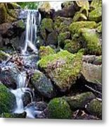 Small Waterfall In Marlay Park Dublin Metal Print