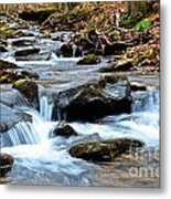 Small Waterfall In Western Pennsylvania Metal Print