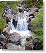Small Waterfall Near Hwy 120 Roadside In Yosemite Np-ca- 2013 Metal Print
