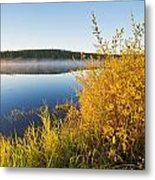 Smallfish Lake In Porcupine Hills Metal Print