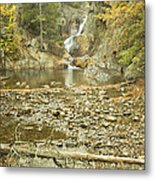 Smalls Falls In Autumn Western Maine Metal Print