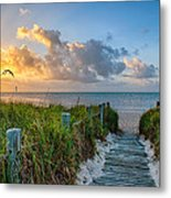 Smathers Beach Sunrise Metal Print