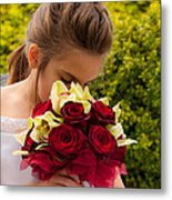 Smelling The Roses 2 Metal Print