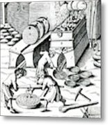 Smelting Copper Metal Print