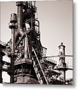 Smelting Furnace Metal Print by Olivier Le Queinec