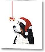 Smile Its Christmas Phone Metal Print