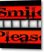 Smile Please Metal Print