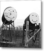 Smiley And Friend Metal Print
