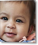 Smiley Asian Baby Metal Print by Vicasso Destiny