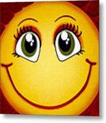 Smiley Sun Metal Print