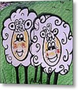 Ewe And Me Smiling  Metal Print