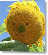 Smiling Sunflower Metal Print