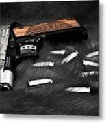 Smith And Wesson 1911sc Still Life Metal Print