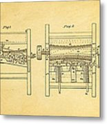Smith Corn Sheller Patent Art 1854 Metal Print