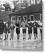 Smith Girls Skate On Paradise Pond Metal Print
