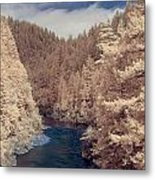 Smith River Forest Canyon Metal Print