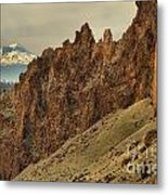 Smith Rock And Cascades Metal Print