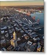 Smith Tower And West Seattle Metal Print