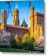 Smithsonian Castle Metal Print by Inge Johnsson