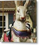 Smithville Carousel Rabbit Metal Print