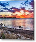 Smithville Lake Sunset Metal Print