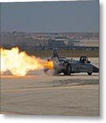 Smoke N Thunder Jet Car Metal Print