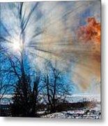 Smoke Thru The Trees Metal Print